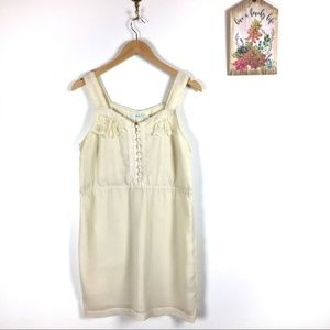 UO Kimchi Blue white dress with buttons and lace M